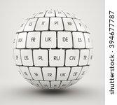 3d render of global internet... | Shutterstock . vector #394677787