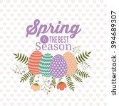 hello spring design  | Shutterstock .eps vector #394689307