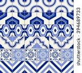 stylish seamless pattern... | Shutterstock .eps vector #394689733