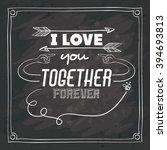 love message design  | Shutterstock .eps vector #394693813