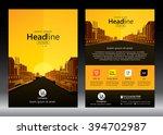 brochure template design.... | Shutterstock .eps vector #394702987