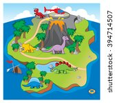 the dinosaurs island | Shutterstock .eps vector #394714507
