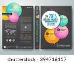 modern flyers brochure cover... | Shutterstock .eps vector #394716157