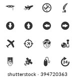 travel icons set and symbols...   Shutterstock .eps vector #394720363