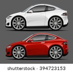 vector modern cartoon car ... | Shutterstock .eps vector #394723153