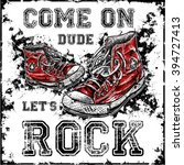 old sneakers rock graphic