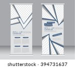 roll up banner stand template.... | Shutterstock .eps vector #394731637