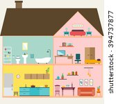 house inside  | Shutterstock .eps vector #394737877