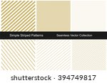 collection of gold striped... | Shutterstock .eps vector #394749817