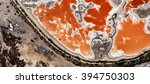 Small photo of cells scorpion African desert from the air, abstract photography mirage of desert Africa bird's eye view, red liquid texture, orange, white and gray, abstract expressionism, abstract surrealism