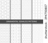 ornamental seamless patterns  ... | Shutterstock .eps vector #394750807
