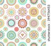 seamless pattern of bright... | Shutterstock .eps vector #394756453