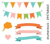 set of multicolored flat... | Shutterstock .eps vector #394768663