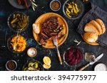 succulent thick juicy portions... | Shutterstock . vector #394775977