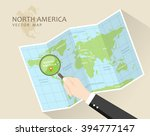 north america vector map. world ... | Shutterstock .eps vector #394777147