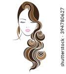 long hair style icon  logo...   Shutterstock .eps vector #394780627