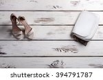 lady's shoes and small purse....   Shutterstock . vector #394791787