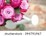 perfect pink rose flower on... | Shutterstock . vector #394791967