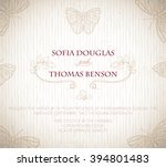wedding invitation card with... | Shutterstock .eps vector #394801483