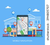 mobile navigation concept... | Shutterstock .eps vector #394805707