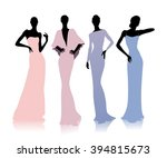 group of female silhouettes in... | Shutterstock .eps vector #394815673