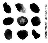 vector black brush strokes set  ... | Shutterstock .eps vector #394820743