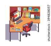 Office Cubicle Working Desk...