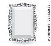 silver vintage frame isolate on ... | Shutterstock .eps vector #394832683