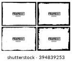 grunge frame texture set  ... | Shutterstock .eps vector #394839253