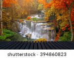 Waterfall In Deep Forest  And...