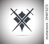 abstract illustration   shield... | Shutterstock . vector #394873273