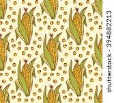 vector vegetable background.... | Shutterstock .eps vector #394882213