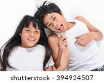 children lying on the floor and ... | Shutterstock . vector #394924507