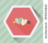 valentine's day heart bow and... | Shutterstock .eps vector #394924843