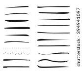 hand lettering underlines lines ... | Shutterstock .eps vector #394941097