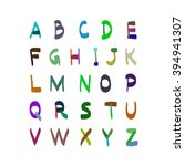 alphabet hand drawn... | Shutterstock . vector #394941307
