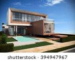 cubic villa   render 1 | Shutterstock . vector #394947967