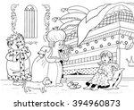 princess on the pea. fairy tale.... | Shutterstock . vector #394960873