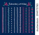 handicraft  embroidery designs  ...   Shutterstock .eps vector #394975783