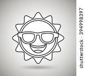sun icon design  | Shutterstock .eps vector #394998397