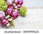 Bouquet Of Flowers  Copy Space...