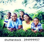 african family happiness... | Shutterstock . vector #394999957