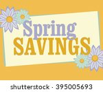 spring savings sign with... | Shutterstock .eps vector #395005693