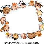 illustration of kids peeping... | Shutterstock .eps vector #395014387
