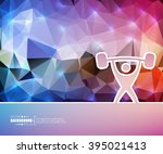 creative vector heavy athletics.... | Shutterstock .eps vector #395021413