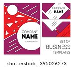 business templates set and... | Shutterstock .eps vector #395026273