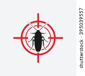 Cockroach Icon Red Target  ...