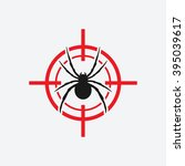 spider icon red target   vector ... | Shutterstock .eps vector #395039617