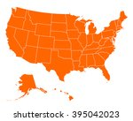 map of usa | Shutterstock .eps vector #395042023