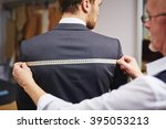 measuring back of jacket | Shutterstock . vector #395053213